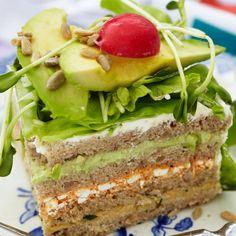 Vegetarisk smörgåstårta – recept