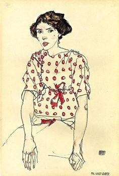 Portrait of Miss Waerndorfer, Egon Schiele. 1913.