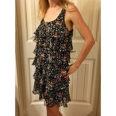 Multicolor Flirty & Fun Floral Layered Dress! Layers of fun chiffon make this your go to cocktail hour dress!  It's black base with tiny floral print in multi color goes with tons of accessories.  Sizing:  It says size M -- I usually wear Small in dresses but I am tall and like how it was loose and not too short. 🙅No trades.  👛👚👕👖 Save 10% when you bundle two or more items!!! Xhilaration Dresses Midi