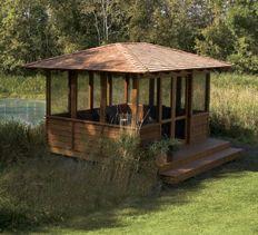 Build a backyard screen house