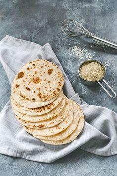 keto low-carb tortillas made from almond flour - vegan, paleo, grain-free Almond Flour Tortilla Recipe, Recipes With Flour Tortillas, Almond Flour Recipes, Low Carb Tortillas, Low Carb Keto, Low Carb Recipes, Vegan Recipes, Cooking Recipes, Freezer Recipes