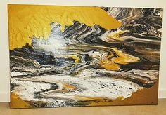 moskvaart / Armagedon - 100 x 70 cm - akryl Artwork, Painting, Work Of Art, Auguste Rodin Artwork, Painting Art, Paintings, Drawings