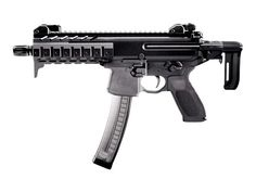 SIG Sauer MPX SBR. This gun is available in 9mm, 40S, and 357SIG.
