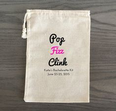 Our handmade favor bags are perfect for your guests at your bachelorette party as a way of saying thank you! Our favor bags are made from 100%…