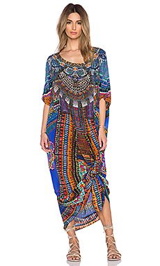 Camilla Round Neck Kaftan in Ancient Paj Ndau