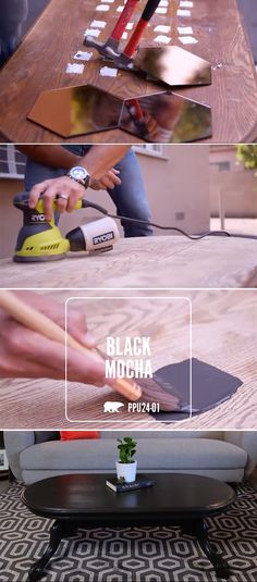 For refinishing an old piece of wood furniture, make sure you properly prep the surface and use two coats of BEHR PREMIUM PLUS ULTRA® to really make it shine! #LaughDancePartner