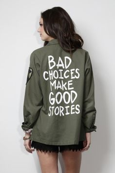 An Army jacket that speaks the truth. $64.40