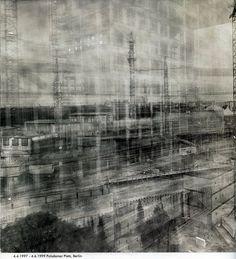 Plus de 2 ans, exposition - Michael Wesely -  Potsdamer Platz Berlin (97-99)