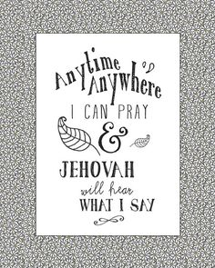 Pray Anytime Wall Art for Jehovah's by JellyfishPrintables