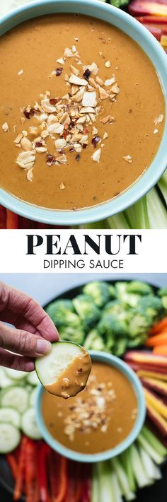 This peanut sauce recipe is a healthy party veggie dip! http://cookieandkate.com