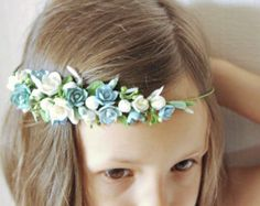 Items similar to Wedding succulent ranunculus headband Bridal head wreath with succulents and flowers boho untailored floral crown Wedding floral tiara on Etsy