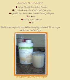 Caramel Turtle Shake! All the goodness, without the guilt with this Herbalife Shake Recipe!