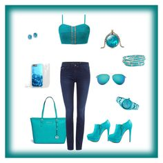 """""""Turquoise Days"""" by abandele on Polyvore featuring Gimmicks, Michael Kors, Blink, Calvin Klein, Kevin Jewelers, Humble Chic, Toy Watch and Victoria Beckham"""