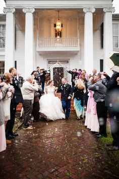 James and Amanda's #memphis wedding. #military #sendoff Photo // Evan David Photography