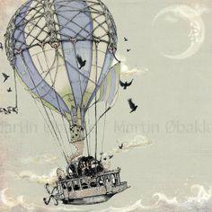 Steampunk Hot Air Ballon Art from theFiligree on Etsy