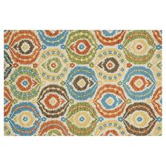 Loloi Taylor Abstract Laurel Floral Wool Rug, Multicolor