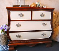 Crockery Cabinet, Old Dressers, Chalk Paint Furniture, Annie Sloan Chalk Paint, Dyi, Repurposed, Fill, House Ideas, Stains