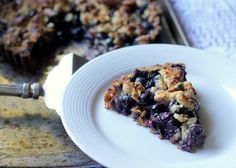 Blueberry Crisp Tart with Oatmeal Crust (GF, Vegan)