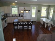 Large open-concept kitchen  living room