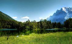 Download imagens Europa, Alpes, montanhas, alpine nuvens, HDR, verão, lago