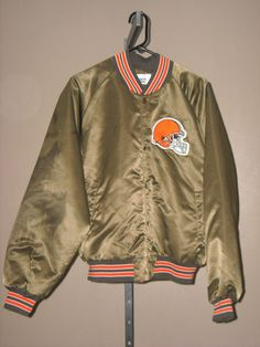 Vintage NFL Cleveland Browns Insulated ChalkLine Satin Jacket Size XL - $49.95    we still have one of these!