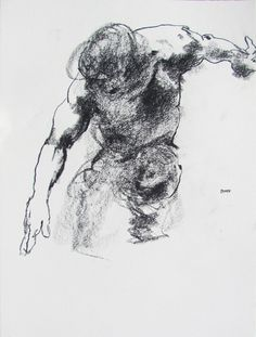 Powerful and gestural figure drawings by contemporary artist Derek Overfield. Guy Drawing, Drawing Artist, Drawing Poses, Life Drawing, Painting & Drawing, Sketch Drawing, Dancing Drawings, Art Drawings Sketches, Figure Drawings