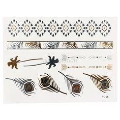 Metal fényes nyári tetoválás Flash Tats, Metal Tattoo, Tatting, Bling, Stickers, Tatoos, Pattern, Cards, Jewel