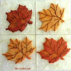 Fall leaves   Cookie Connection...gold luster dust