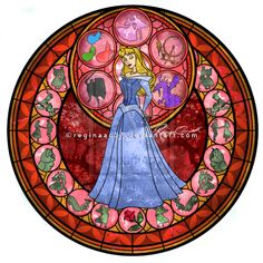 Princess Aurora - Kingdom Hearts Stain Glass by ~reginaac57 on deviantART