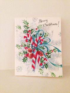 Vintage 1950's Christmas Card by Natoyaista on Etsy