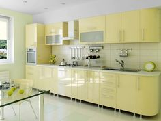 Modern Kitchen Cabinets - The old kitchen cabinets you had may have gotten out of fashion because style is getting changed every day and if you have to match the latest trend and style, then you have Kitchen Cabinets Materials, Kitchen Wall Units, Kitchen Cupboard Designs, Kitchen Wall Cabinets, Kitchen Room Design, Interior Design Kitchen, Kitchen Decor, L Shaped Kitchen Designs, Modern Kitchen Interiors