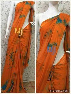 Nazneen chiffon sarees without blouse