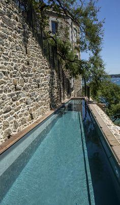 Private pool, hotel Castelbrac, Dinard