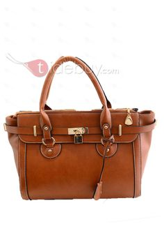 Vintage Metal Buckle All-matched Women's Tote Bags, Metal