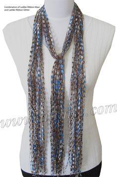 Free Pattern: Ribbon Yarn Scarves-not crochet