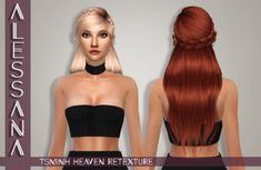 Alessana Sims: Tsminh`s Heaven hair retextured  - Sims 4 Hairs - http://sims4hairs.com/alessana-sims-tsminhs-heaven-hair-retextured/