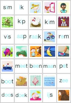 memoryspel nieuwe versie Veilig Leren Lezen kern start, kern 1, kern 2 en een deel van kern 3