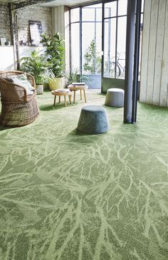 Infini Colors - Forest #Balsan #nature #forest #green #trees #leaves #design #designideas #interior #interiordesign #interiors #decor #decoration #ideas #color #carpet #modern #creativity #flooring #artistic #inspiration #textile #pattern #france #madeinfrance #home #hotel #office