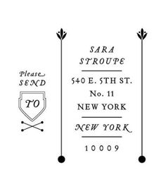 Marlowe Address Kit | MaeMae Paperie