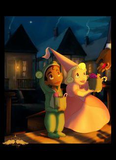 Tiana and Charlotte -De kikkerprins-