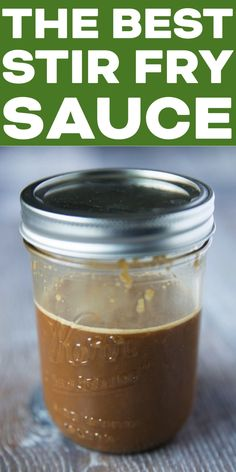 The BEST Stir Fry Sauce! - The BEST stir fry sauce recipe you've ever had! Delicious on vegetables, chicken, beef, pork, or - Sauce Recipes, Cooking Recipes, Healthy Recipes, Asian Recipes, Beef Recipes, Spinach Recipes, Asian Foods, Cooking Tips, Easy Recipes