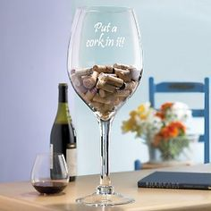 """Wine Enthusiast """"Put a Cork In It"""" Wine Glass Cork Holder, 20 Inch -- Visit the image link more details. (Amazon affiliate link)"""