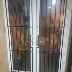 Grilles bolted to tapped holes in aluminium doors Brazing, Aluminium Doors, Installation Manual, Security Door, Metal Fabrication, Dog Crate, Blacksmithing, Contemporary Design, Crates