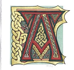 ✿ Tattoos ✿ Celtic ✿ Norse ✿ Illuminated A by omegalith