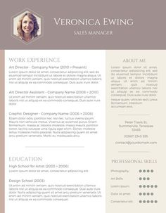 Download Free Resumes New Free Colorful Resume Template Download  Design Resumes  Pinterest .