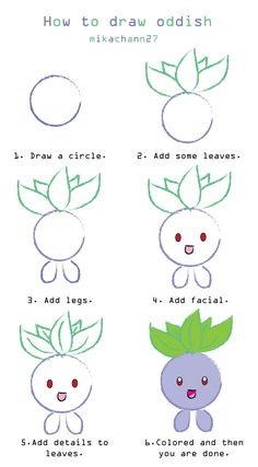 How to draw oddish