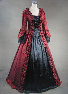 Ladies 18th Century Marie Antoinette Masked Ball Costume Renaissance Dress Costume Alternative Measures