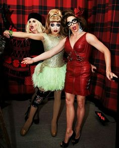 Katya Zamo, Bianca Del Rio and Alyssa Edwards