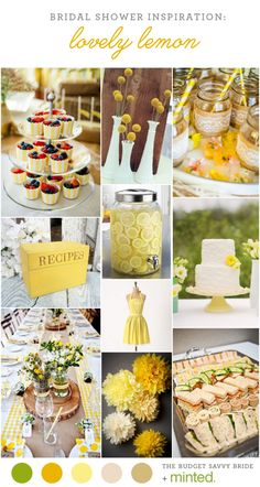 Yellow Bridal Shower Inspiration from Minted!