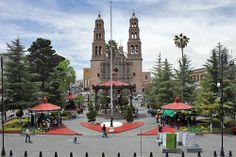 Plaza de Armas, Chihuahua, Mexico! Central Plaza, Chihuahua Mexico, Celebration Around The World, Park Resorts, Notre Dame, Entrance, Cathedral, Scenery, Around The Worlds